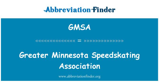 GMSA: Greater Minnesota Speedskating Association