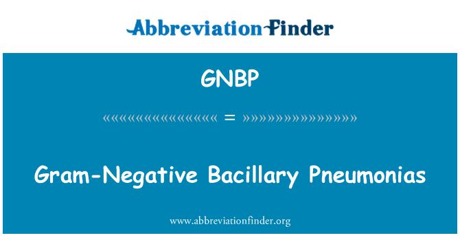 GNBP: Gram-Negative Bacillary Pneumonias