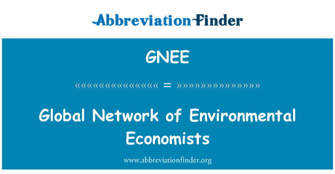 GNEE: Global Network of Environmental Economists