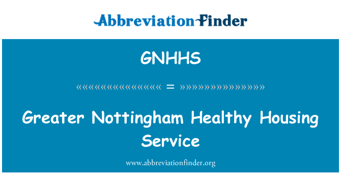 GNHHS: Greater Nottingham Healthy Housing Service