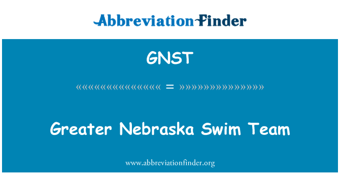 GNST: Greater Nebraska Swim Team