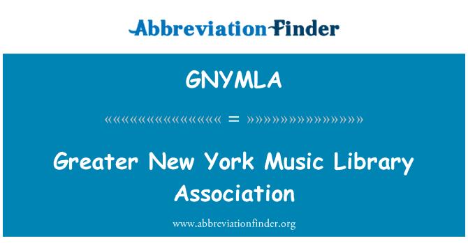 GNYMLA: Greater New York Music Library Association
