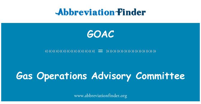 GOAC: Gas Operations Advisory Committee