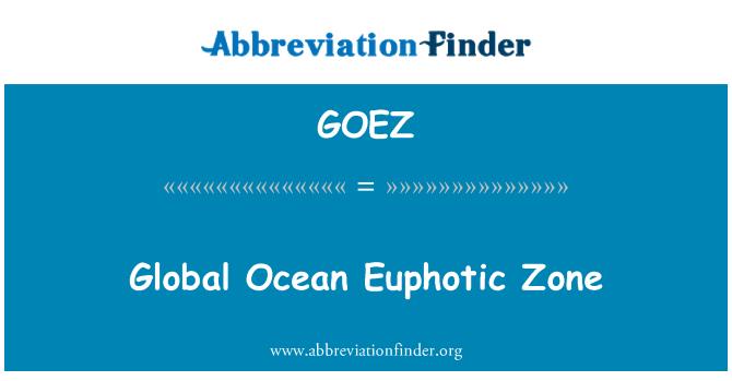 GOEZ: Global Ocean Euphotic Zone