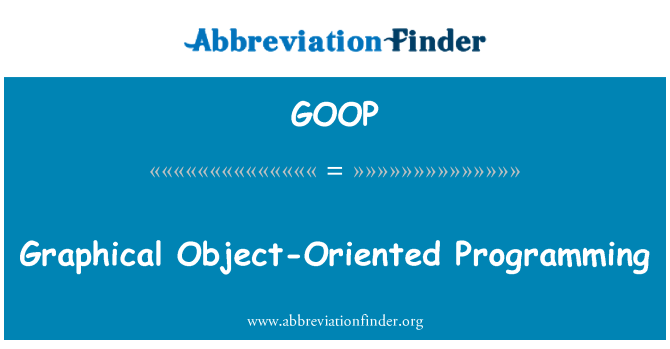 GOOP: Graphical Object-Oriented Programming