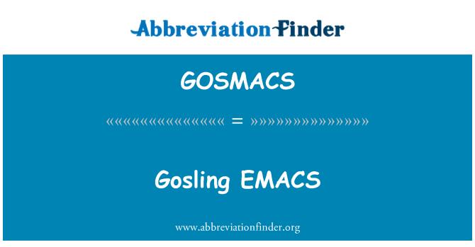 GOSMACS: Gosling EMACS