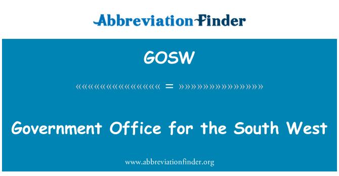 GOSW: Government Office for the South West