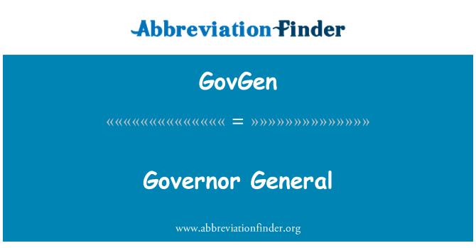 GovGen: Governor General