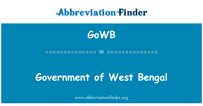 GoWB: Government of West Bengal