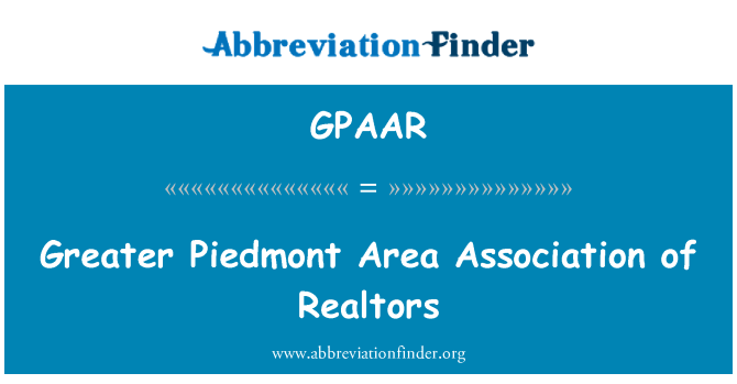 GPAAR: Greater Piedmont Area Association of Realtors