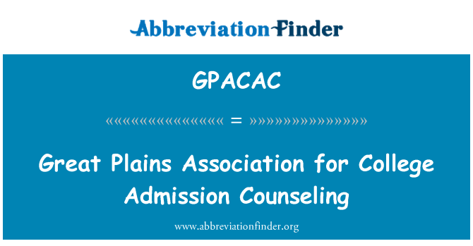 GPACAC: Great Plains Association for College Admission Counseling
