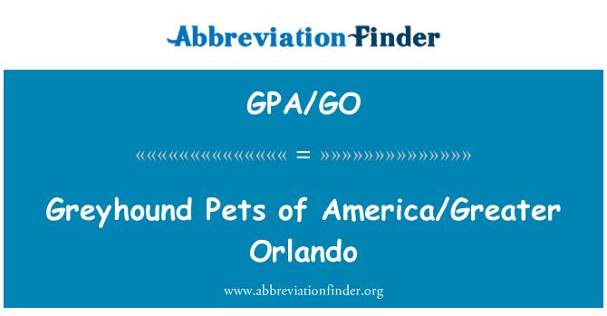 GPA/GO: Greyhound Pets of America/Greater Orlando