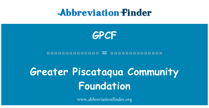 GPCF: Mayor Piscataqua Community Foundation