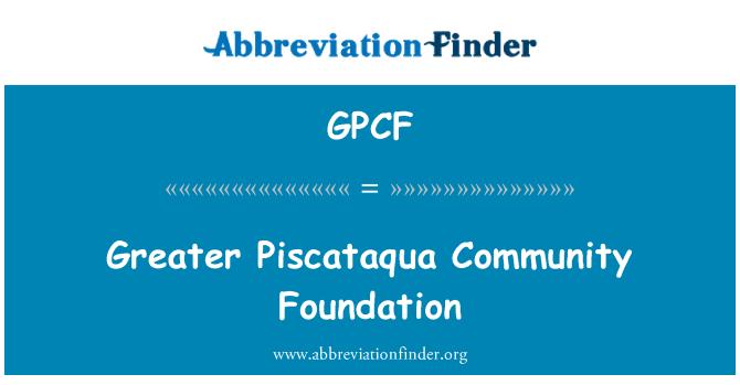 GPCF: Mayor Piscataqua Community Foundation
