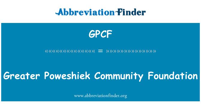 GPCF: Mayor Poweshiek Community Foundation