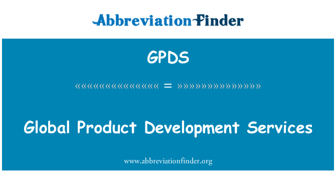 GPDS: Global Product Development Services