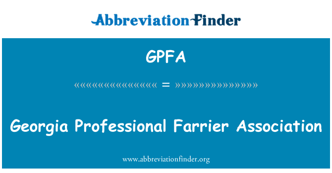 GPFA: Georgia Professional Farrier Association