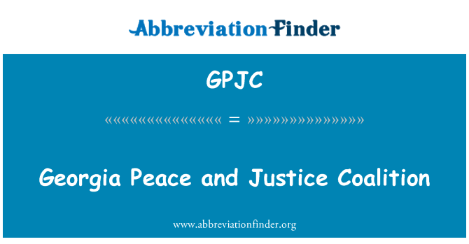 GPJC: Georgia Peace and Justice Coalition