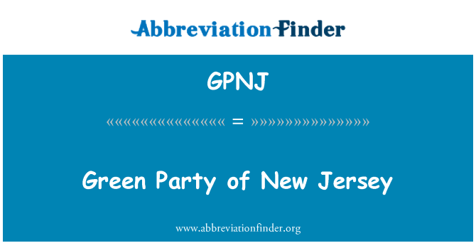 GPNJ: Green Party of New Jersey