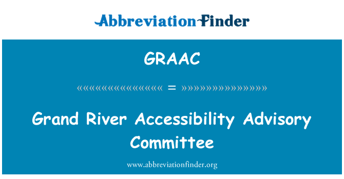 GRAAC: Grand River Accessibility Advisory Committee