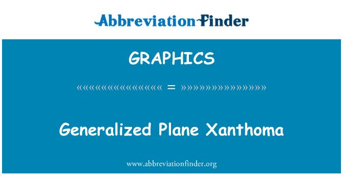 GRAPHICS: Generalized Plane Xanthoma