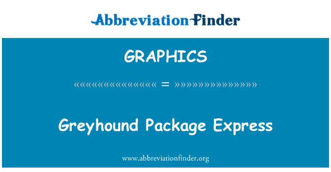 GRAPHICS: Greyhound paket Express