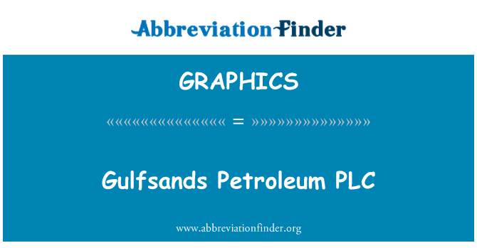 GRAPHICS: Gulfsands petroliere PLC
