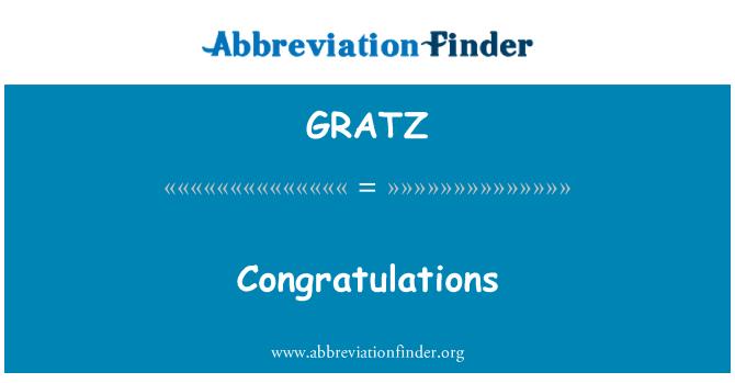 GRATZ: 祝贺
