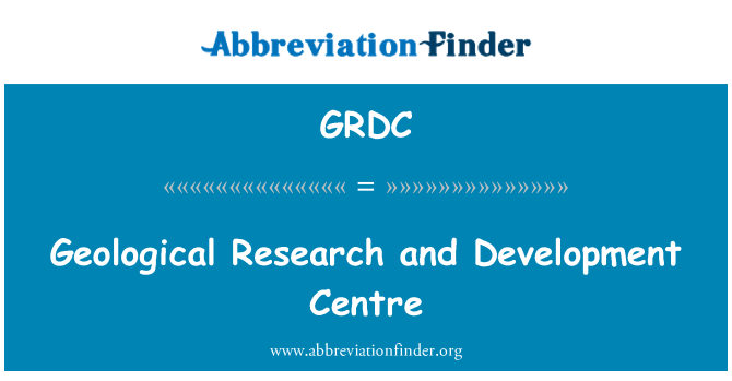 GRDC: Geological Research and Development Centre