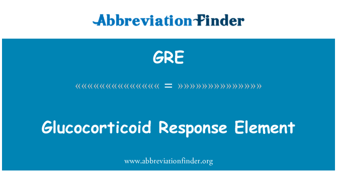 GRE: Glucocorticoid Response Element