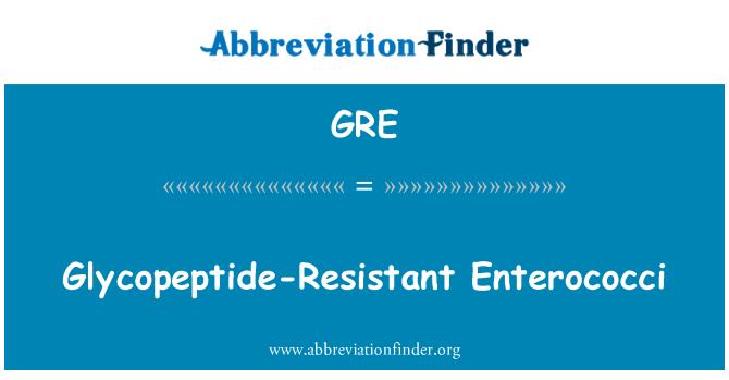 GRE: Glycopeptide-Resistant Enterococci