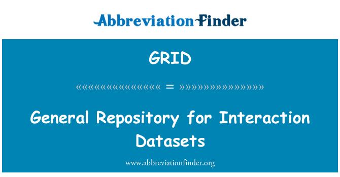 GRID: Repositorio general para conjuntos de datos de interacción
