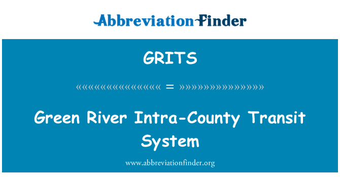 GRITS: Green River şehir içi toplu taşıma sistemi