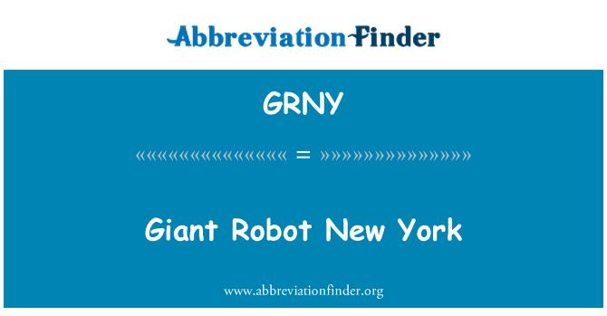 GRNY: Divovski Robot New York