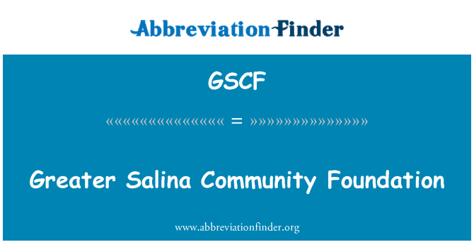 GSCF: Greater Salina Community Foundation