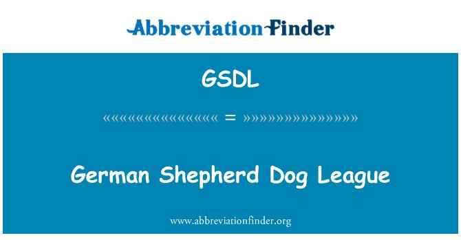 GSDL: Vokiečių aviganis Šuo lyga