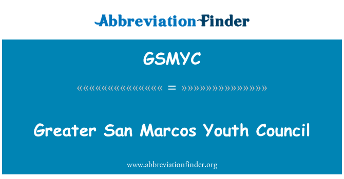 GSMYC: Greater San Marcos Youth Council