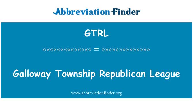 GTRL: Galloway Township Republican League