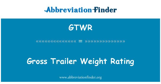 GTWR: Gross Trailer Weight Rating