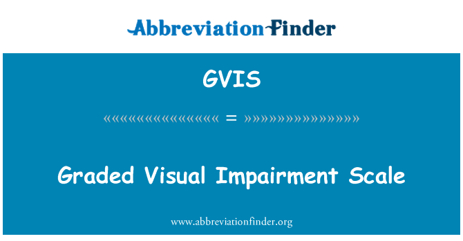 GVIS: Graded Visual Impairment Scale