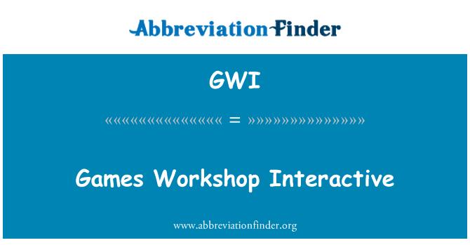 GWI: Taller de juegos interactivo