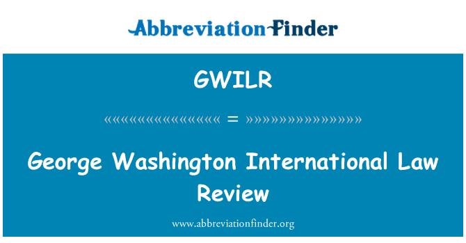 GWILR: George Washington International Law Review