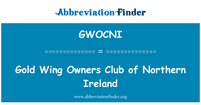 GWOCNI: Gold Wing Owners Club of Northern Ireland