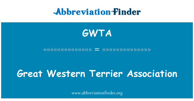 GWTA: Terrier occidental gran asociación