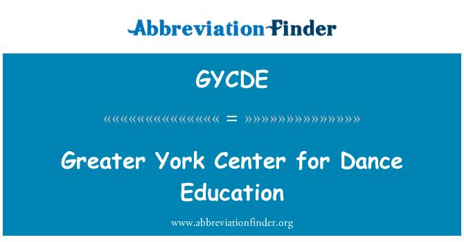 GYCDE: Greater York Center for Dance Education