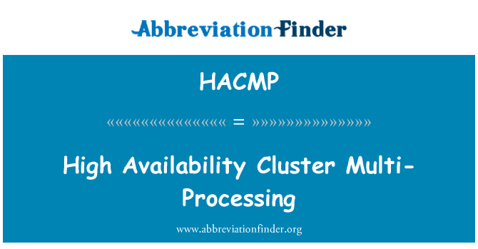 HACMP: High Availability Cluster Multi-Processing
