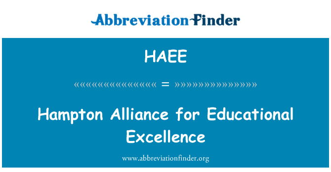 HAEE: Hampton Alliance for Educational Excellence