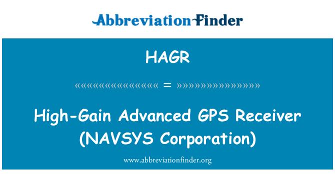 HAGR: Yüksek kazançlı gelişmiş GPS alıcısı (NAVSYS Corporation)