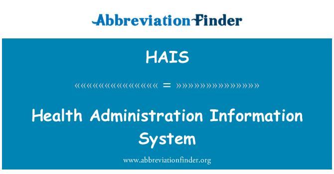 HAIS: Sistema de información de administración en salud