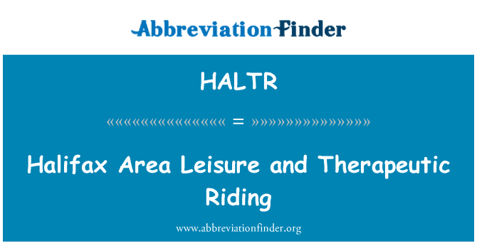HALTR: Halifax Area Leisure and Therapeutic Riding